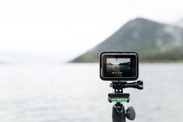 Action Cam che riprende il paesaggio